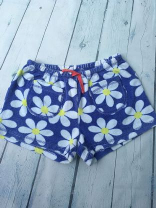 Mini Boden blue and white floral towelling shorts age 10 (fits age 9-10)